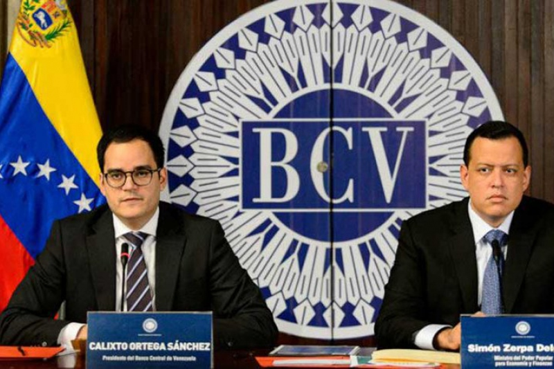 Central Bank President Calixto Ortega and Finance Minister Simon Zerpa